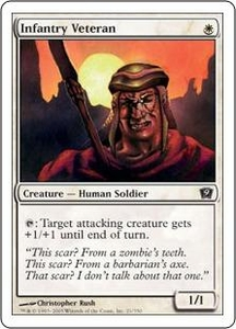 Magic the Gathering Ninth Edition Single Card Common #21 Infantry Veteran