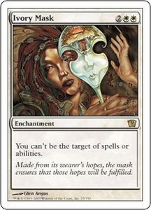 Magic the Gathering Ninth Edition Single Card Rare #23 Ivory Mask