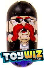 Mighty Beanz 2009 Series 1 Common Moustache Single #83 Handlebar Bean