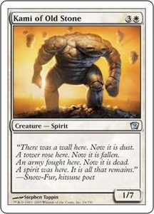 Magic the Gathering Ninth Edition Single Card Uncommon #24 Kami of Old Stone