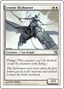 Magic the Gathering Ninth Edition Single Card Uncommon #25 Leonin Skyhunter