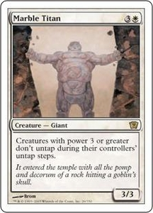 Magic the Gathering Ninth Edition Single Card Rare #26 Marble Titan