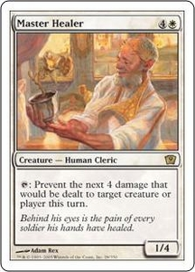 Magic the Gathering Ninth Edition Single Card Rare #28 Master Healer