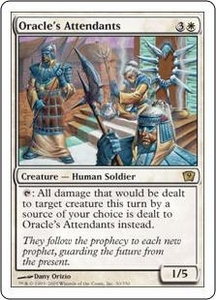 Magic the Gathering Ninth Edition Single Card Rare #30 Oracle's Attendants