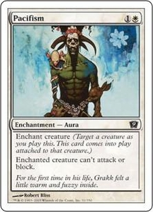 Magic the Gathering Ninth Edition Single Card Common #31 Pacifism
