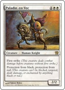 Magic the Gathering Ninth Edition Single Card Rare #32 Paladin en-Vec