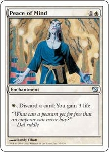 Magic the Gathering Ninth Edition Single Card Uncommon #33 Peace of Mind