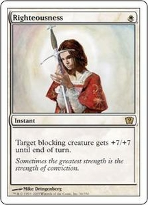 Magic the Gathering Ninth Edition Single Card Rare #36 Righteousness