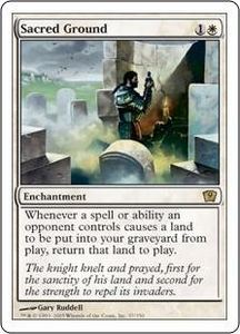 Magic the Gathering Ninth Edition Single Card Rare #37 Sacred Ground