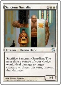 Magic the Gathering Ninth Edition Single Card Uncommon #40 Sanctum Guardian