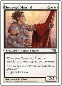 Magic the Gathering Ninth Edition Single Card Uncommon #42 Seasoned Marshal