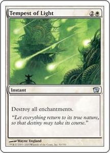Magic the Gathering Ninth Edition Single Card Uncommon #50 Tempest of Light