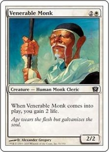 Magic the Gathering Ninth Edition Single Card Common #51 Venerable Monk