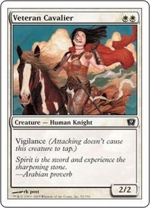 Magic the Gathering Ninth Edition Single Card Common #52 Veteran Cavalier