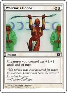 Magic the Gathering Ninth Edition Single Card Common #53 Warrior's Honor
