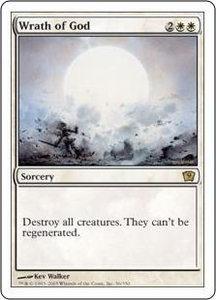 Magic the Gathering Ninth Edition Single Card Rare #56 Wrath of God
