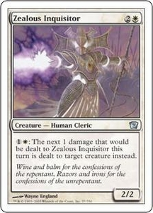 Magic the Gathering Ninth Edition Single Card Uncommon #57 Zealous Inquisitor