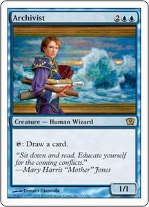 Magic the Gathering Ninth Edition Single Card Rare #60 Archivist