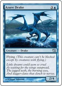 Magic the Gathering Ninth Edition Single Card Uncommon #63 Azure Drake
