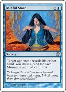 Magic the Gathering Ninth Edition Single Card Uncommon #64 Baleful Stare