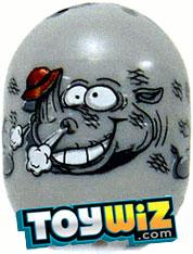 Mighty Beanz 2009 Series 1 Ultra Rare Zoo Single #15 Rhino Bean