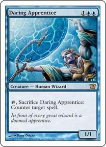 Magic the Gathering Ninth Edition Single Card Rare #72 Daring Apprentice