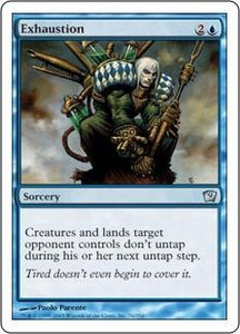 Magic the Gathering Ninth Edition Single Card Uncommon #76 Exhaustion