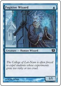 Magic the Gathering Ninth Edition Single Card Common #80 Fugitive Wizard