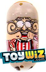 Mighty Beanz 2009 Series 1 Rare Moustache Single #84 Curly Moe Bean