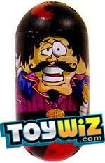 Mighty Beanz 2009 Series 1 Common Moustache Single #82 Musketeer Bean