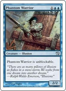 Magic the Gathering Ninth Edition Single Card Uncommon #88 Phantom Warrior