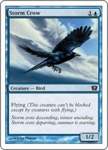 Magic the Gathering Ninth Edition Single Card Common #100 Storm Crow