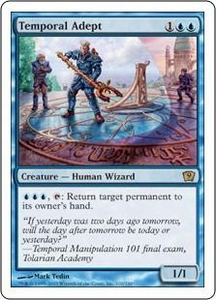 Magic the Gathering Ninth Edition Single Card Rare #102 Temporal Adept