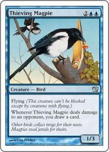 Magic the Gathering Ninth Edition Single Card Uncommon #103 Thieving Magpie