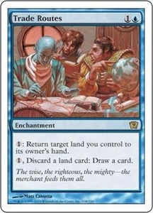 Magic the Gathering Ninth Edition Single Card Rare #108 Trade Routes