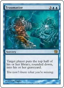 Magic the Gathering Ninth Edition Single Card Rare #109 Traumatize