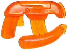 BrickArms 2 to 4 Inch Scale Figure Style Limited Edition FireWeapon Energy Pistol Translucent Orange
