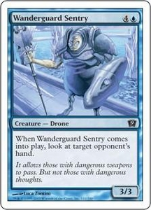 Magic the Gathering Ninth Edition Single Card Common #111 Wanderguard Sentry