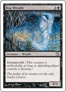 Magic the Gathering Ninth Edition Single Card Uncommon #117 Bog Wraith