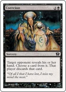 Magic the Gathering Ninth Edition Single Card Common #118 Coercion