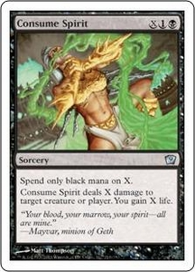 Magic the Gathering Ninth Edition Single Card Uncommon #119 Consume Spirit
