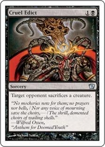 Magic the Gathering Ninth Edition Single Card Uncommon #121 Cruel Edict