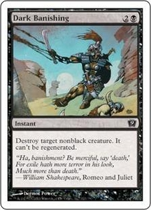 Magic the Gathering Ninth Edition Single Card Common #122 Dark Banishing