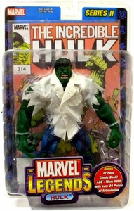 Marvel Legends Series 2 Action Figure Hulk with White Shirt Variant Damaged Package, Mint Content!