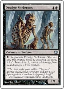 Magic the Gathering Ninth Edition Single Card Uncommon #126 Drudge Skeletons