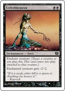 Magic the Gathering Ninth Edition Single Card Common #127 Enfeeblement