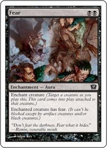 Magic the Gathering Ninth Edition Single Card Common #129 Fear