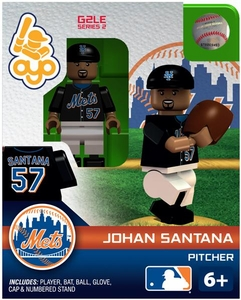 OYO Baseball MLB Generation 2 Building Brick Minifigure Johan Santana [New York Mets]