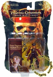 Zizzle Pirates of the Caribbean Dead Man's Chest 3 3/4 Inch Action Figure Pirate Disguised Elizabeth Swann