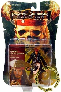 Zizzle Pirates of the Caribbean Dead Man's Chest 3 3/4 Inch Action Figure Captain Jack Sparrow